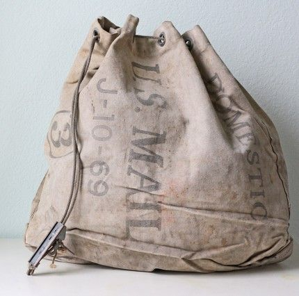 Vintage Canvas US Mail Bag