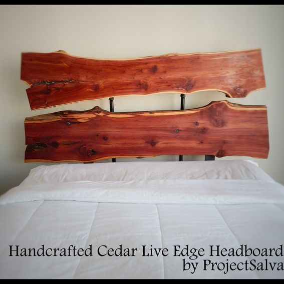 Handmade Live Edge Headboard / Industrial Headboard / Reclaimed ...