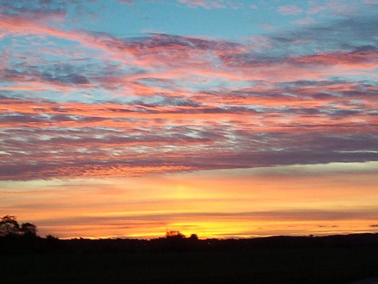 Evening sky Denmark