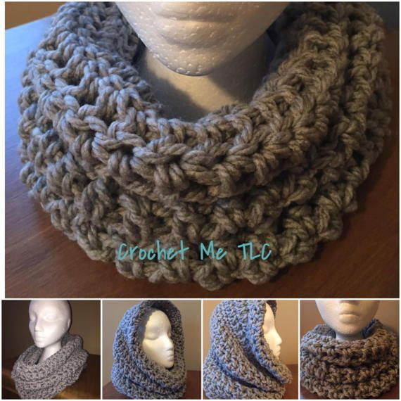 This listing is for one warm, fuss-free cowl ♥ Item will be made especially for you, so please check my Shop Policies or contact me to see the current waiting time ♥ 100% acrylic soft, chunky yarn ♥ Can be worn as a cowl or hood ♥ Handmade with love in a smoke-free, pet friendly home