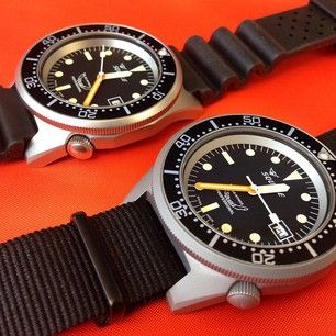 Limited edition Squale Super Matte next to the new Squale Satinato #watches