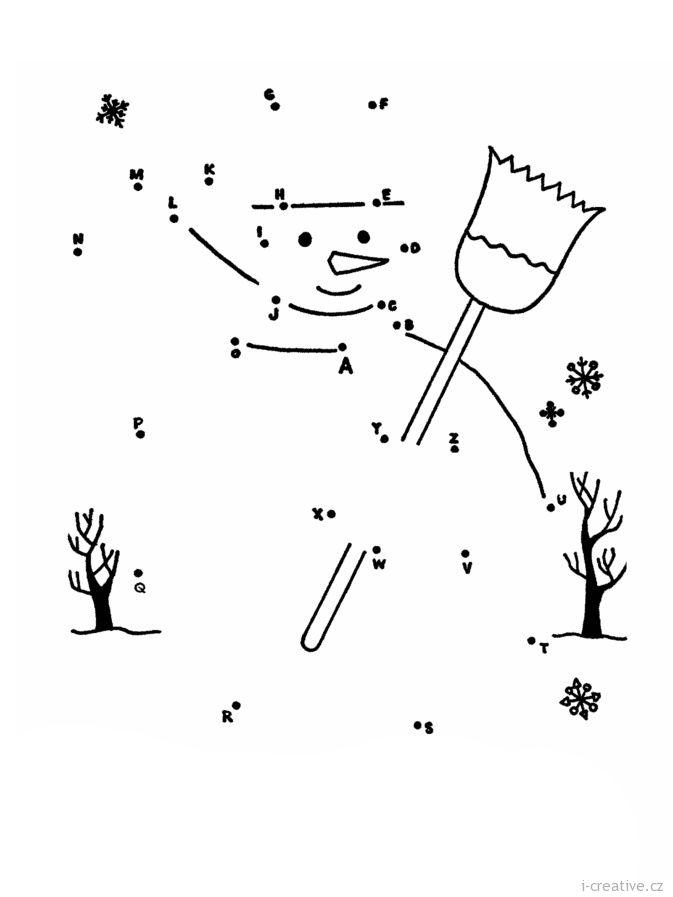 sněhulák spojovačka pro děti