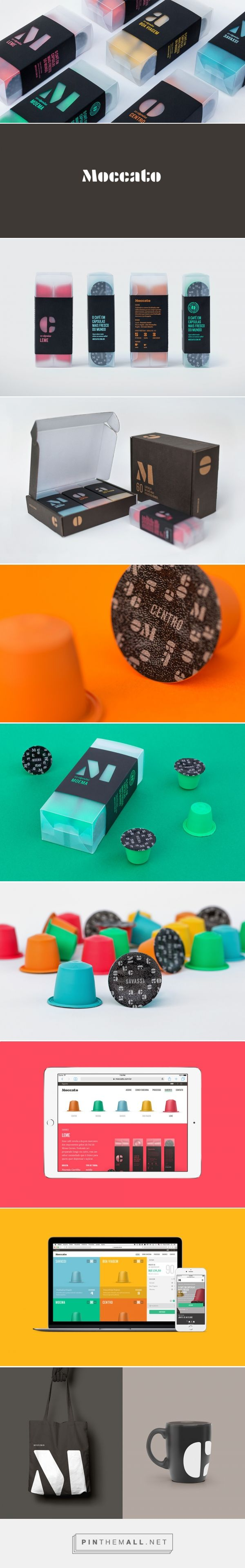 MOCCATO — For all you coffee lovers out there, get a load of this. MOCCATO's bright and colorful packaging delivers flavorful morning pick-me-ups to your door. From the best local producers, tiny coffee pods are stacked in a frosty box, dressed in a diecut black sleeve.
