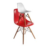 White Kids Eames DSW Kid's Chair Solid Colour - JS Interiors