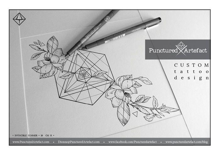 black and white magnolia tattoo - Recherche Google