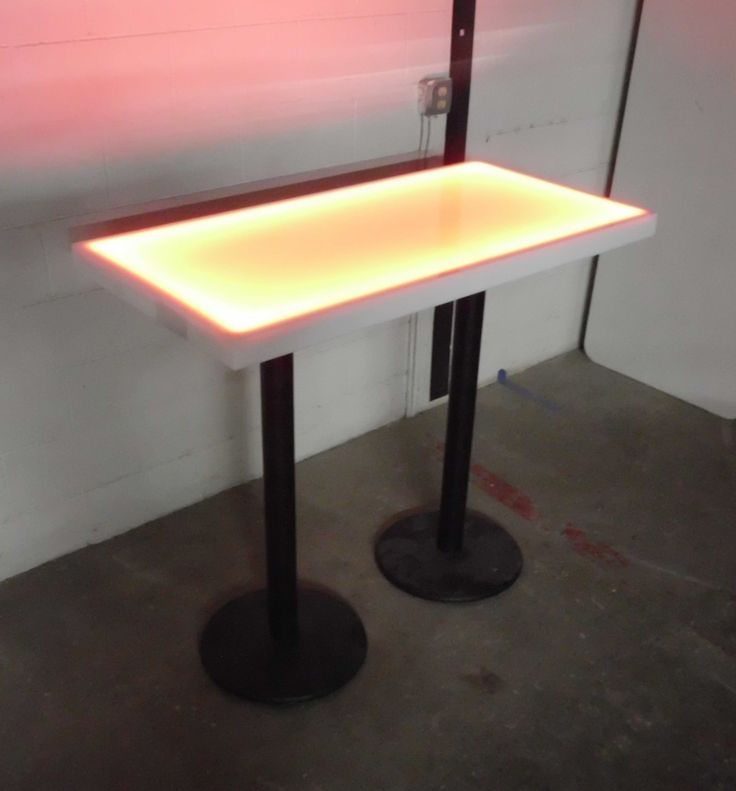 Glowing 24x48 LED Tables