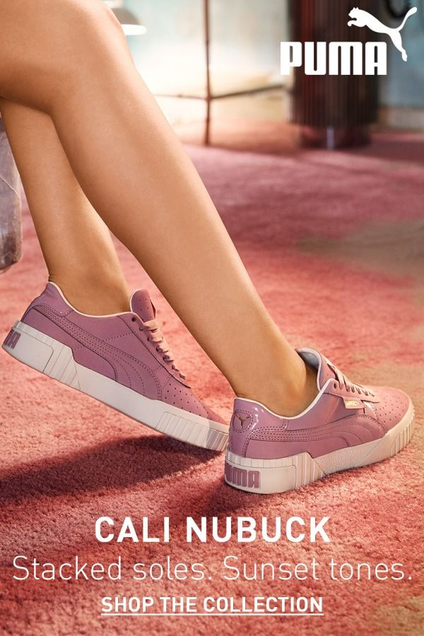 Stacked soles. Sunset tones. Cali Nubuck is now available at PUMA ...