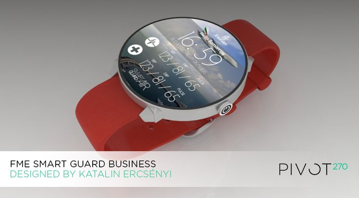 Health Monitoring Smart Watch Gadget Design by Katalin Ercsényi
