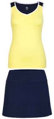 CLEARANCE Tail Ladies & Plus Size Tennis Outfits (Tank & Skort) - Navy Regatta (Taura/Tamara)
