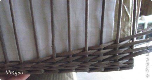 Мастер-класс Мои хитрости плетения послойки в прямоугольных корзинах Бумага газетная Трубочки бумажные фото 5
