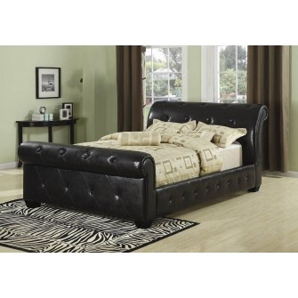 Manchester Sleigh Bed Black