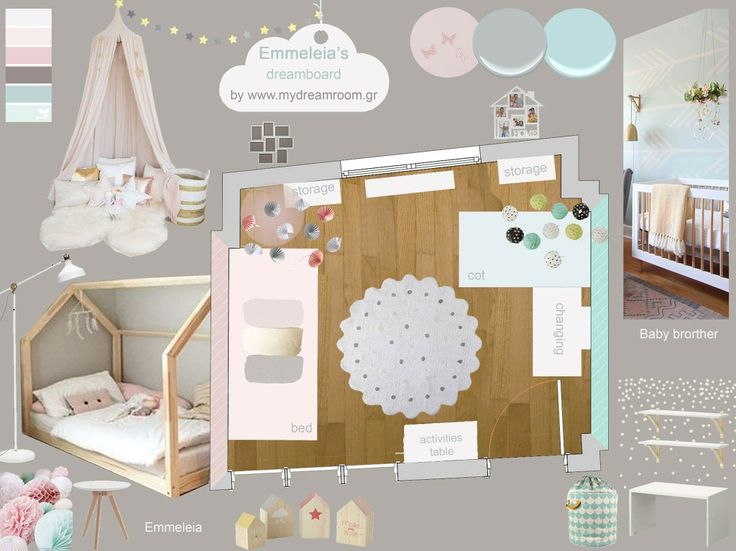 Boy and girl shared room_Dreamboard by www.mydreamroom.gr