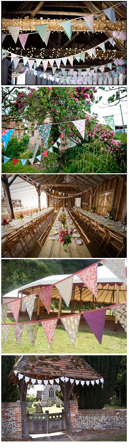 love all these pretty uses of bunting!