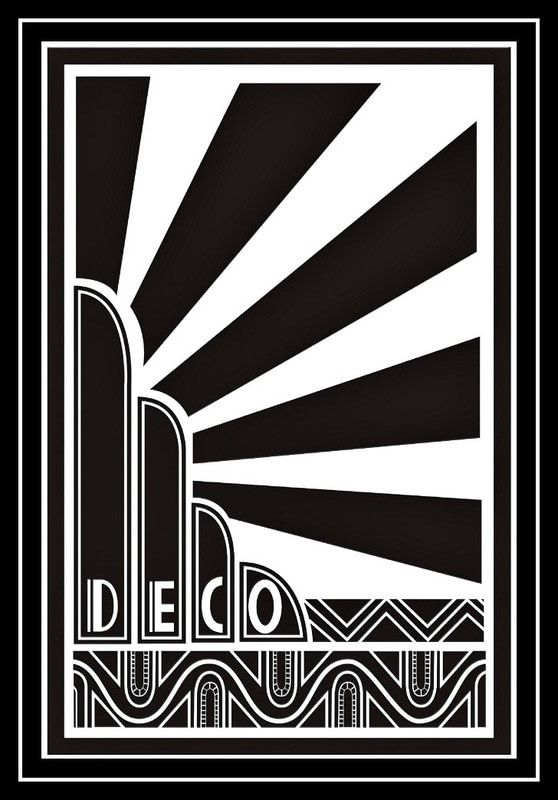 ART DECO [Black&White] ... I have a crush on it for sure! I've even created a Board full of Art Deco pins because I think it's gonna be a huuge trend soon... For more inspiration, check them here >> https://pinterest.com/analika3/art-deco-design-graphics-pattern-inspiration/