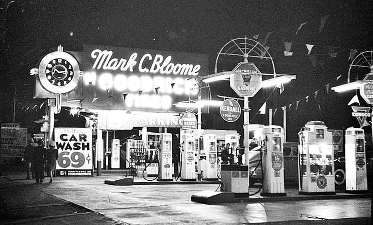Vintage Gasoline Stations in Hollywood and New England @ http://theoldmotor.com/?p=162435