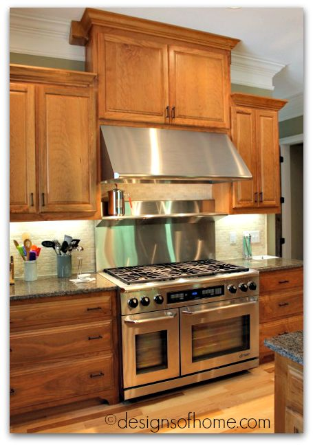 designsofhome.com | Finished Natural Rustic Cherry Kitchen - Designs of Home