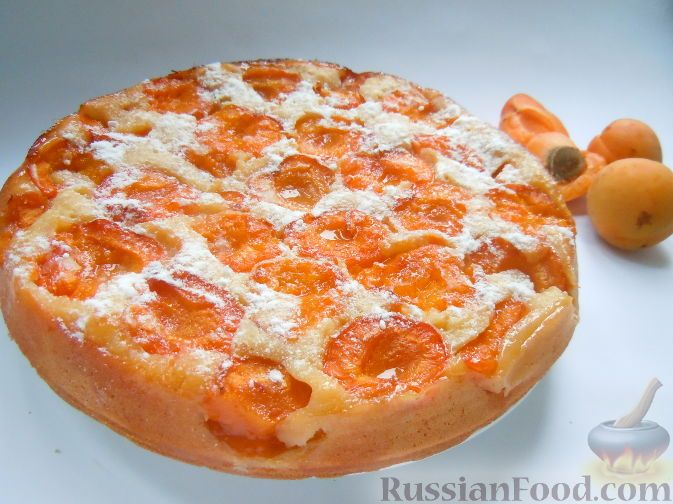 Рецепт: Пирог с абрикосами на RussianFood.com