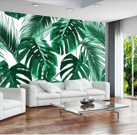 Rain Forest Big Banana Leaf Wallpaper Murals Art Wall
