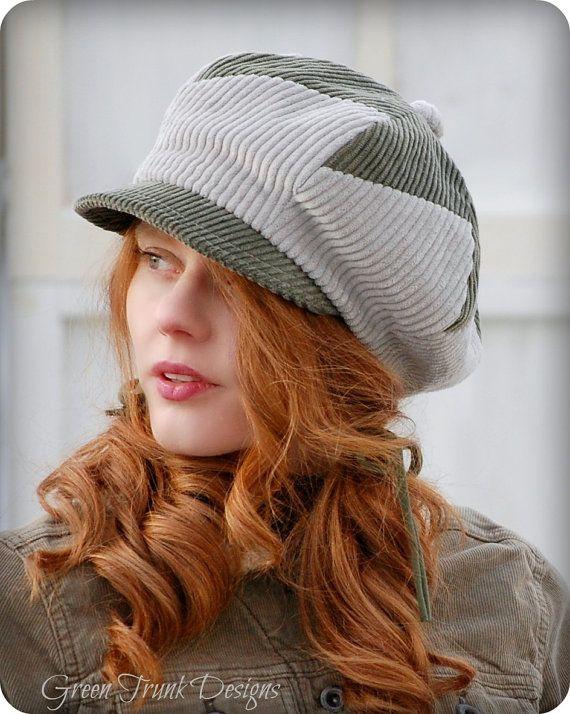 Wintergreen Patchwork Newsboy Hat by GreenTrunkDesigns on Etsy, $49.00