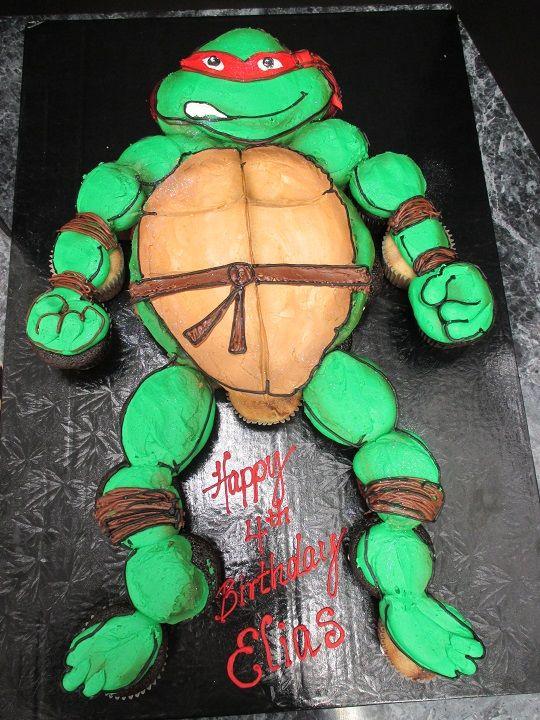 Ninja Turtle Cupcakes | Cupcake Pull Apart Cakes Lancaster | Oregon Dairy Bake Shoppe