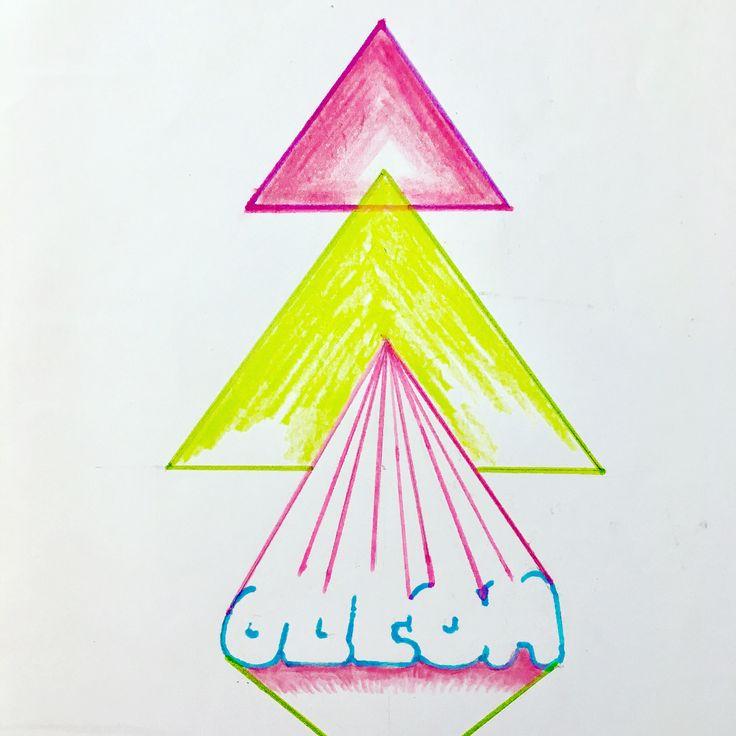 """hello dawn"" #drawing #graphic #artwork #pyramid #triangle #music #sound #colourful  #geometric #love #pop #tokyo #japan #keijiito #ufg"