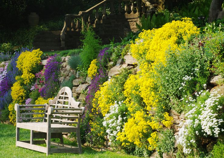 11 best Rock Gardens images on Pinterest | Rock wall gardens ...