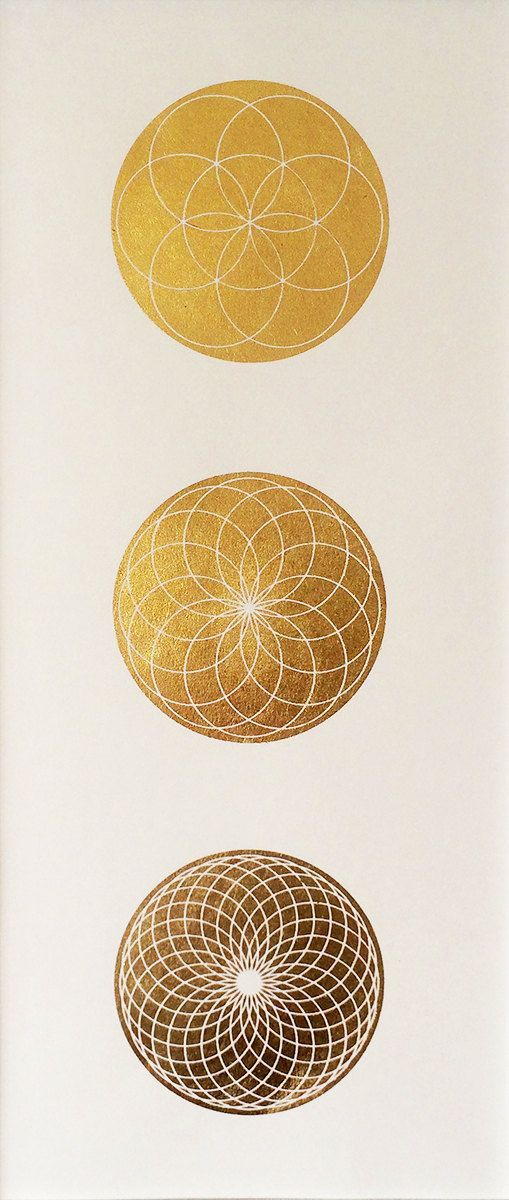 Seed of Life Spirograph series  Gold Leaf by MerkavahMarket