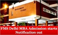 Faculty of Management Studies (FMS Delhi) University of Delhi has announced its admission for MBA Program for the 2015-17 batches. FMS Delhi will therefore accept only the CAT 2014 test scores as the admission criteria for MBA batch 2015-17