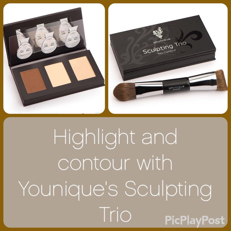 Younique May 2016 Kudos Sculpting trio. Highlight & contour kit with free brush