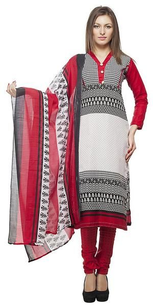 LadyIndia.com # Straight Suit, Women'S Faux Cotton Multicolor Salwar Suits With Duptta Set Casual Dress Material, Unstitched Suit, Salwar Suit Duptta Set, Dress Material, Anarkali Dress, Straight Suit, https://ladyindia.com/collections/ethnic-wear/products/womens-faux-cotton-multicolor-salwar-suits-dress-material