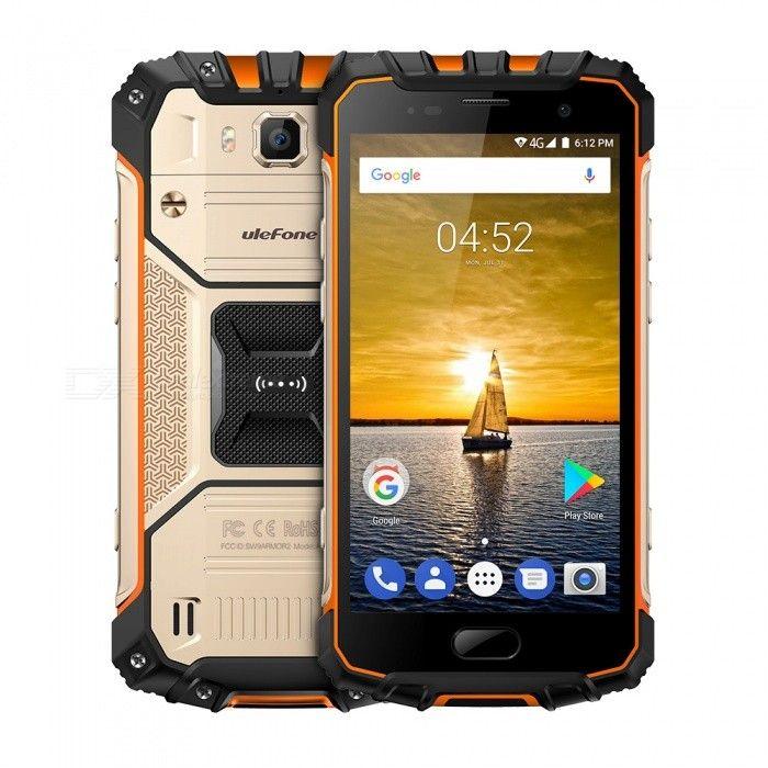 Ulefone Armor 2 Waterproof IP68 4G Phone w/ 6GB RAM 64GB ROM - Golden - Free Shipping - DealExtreme