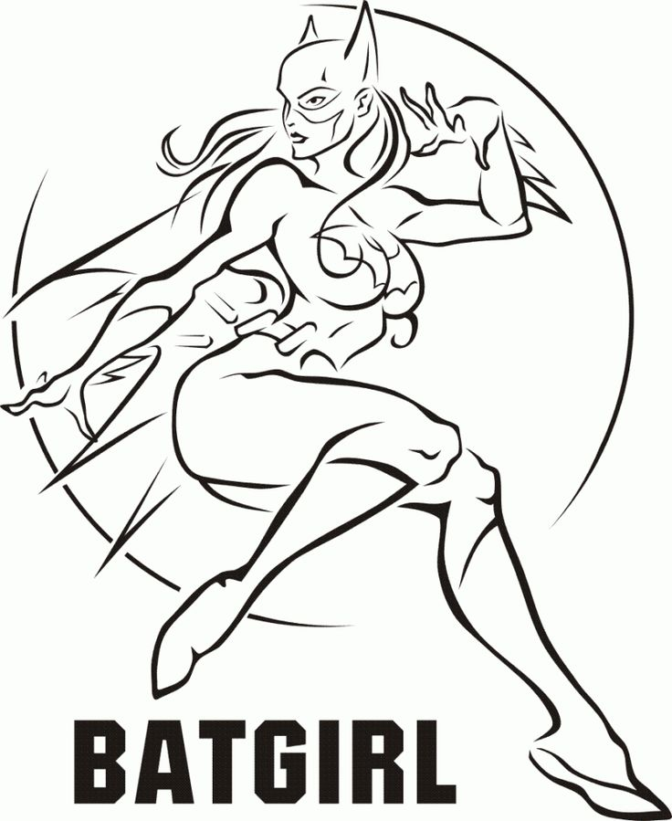 Printable Batgirl Coloring Pages