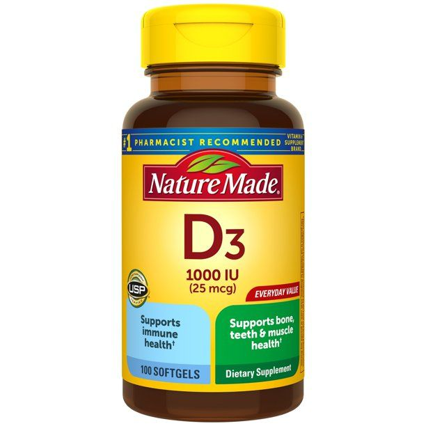 Spring Valley Vitamin D3 Softgels 5000 Iu 100 Count Walmart Com In 2020 Vitamins Vitamin D3 Supplements Dietary Supplements