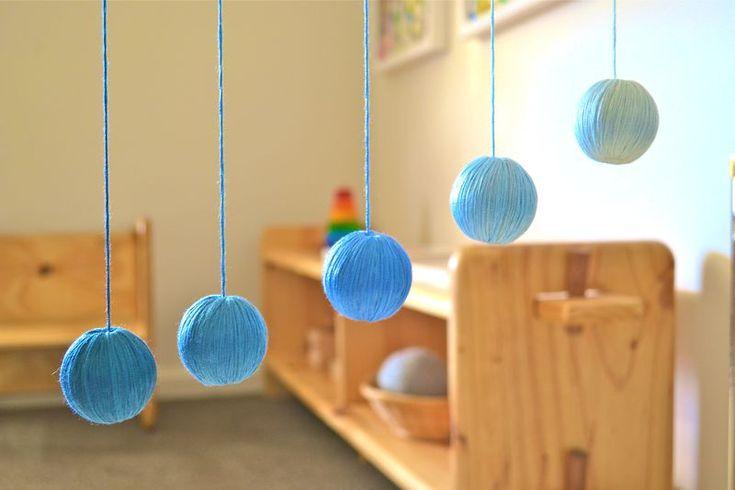 Montessori baby room! Love it! Simple and intelligent!