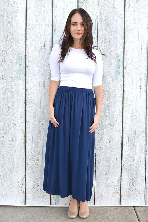 Image result for navy maxi skirt
