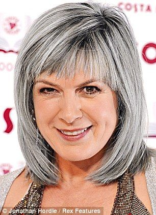Penny Smith grey hair, silver hair...not a fan of grey hair but her style is cute