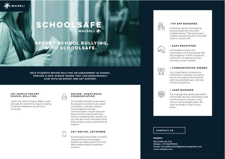 Whispli SchoolSafe Brochure - Learn more an request a free 14 day trial today.