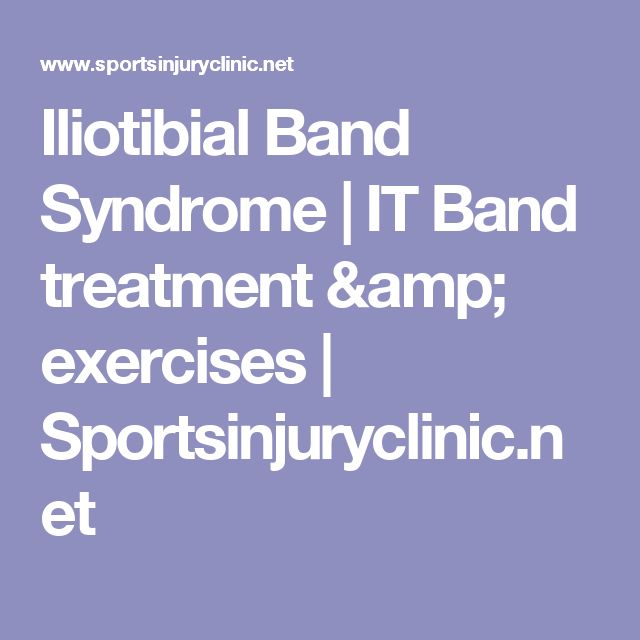 Iliotibial Band Syndrome | IT Band treatment & exercises | Sportsinjuryclinic.net