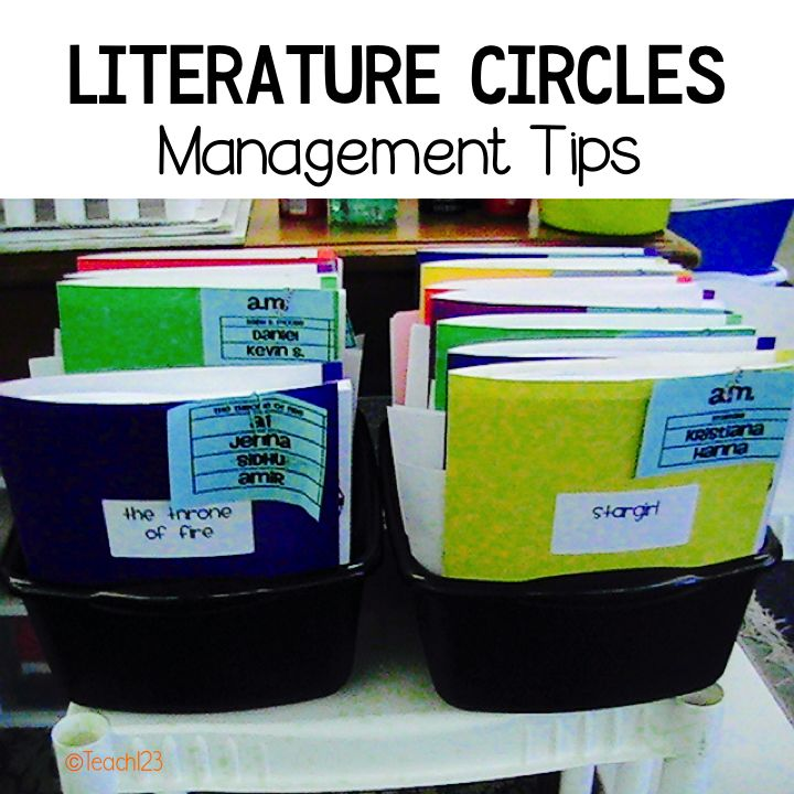 Literature circle management tips