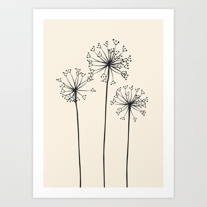 Buy Dandelions Art Print By Flowline Worldwide Shipping Available