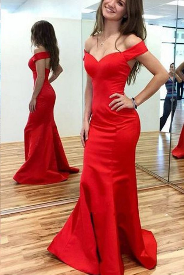 Red Prom Dresses,Mermaid Prom Dress,Satin Prom Dress,Prom Dresses, Formal Gown,Evening Gowns,Red Party Dress,Mermaid Prom Gown For Teens – Burgundy Or Red Party Prom Dress