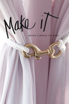 DIY Curtain Tie I need this for the master for that middle curtain that just is in the way this is genius!