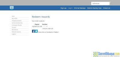 Melakukan redeem poin pada situs paid survey Mobrog | SurveiDibayar.com