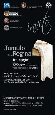 Tarquinia (Viterbo) - Mostra fotografica sugli scavi nel Tumulo della Regina - fino al 07 ottobre 2012 altre info: http://www.tesoridellazio.it/pagina.php?area=Eventi+nel+Lazio=EVENTI+FOTOGRAFICI=Tarquinia+%28VT%29+-+Mostra+Fotografica+Il+Tumulo+della+Regina