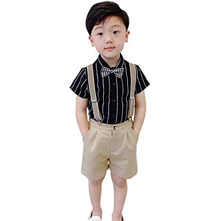 DEMU Sommer Kinder Gentleman T-Shirt Tops Shorts …