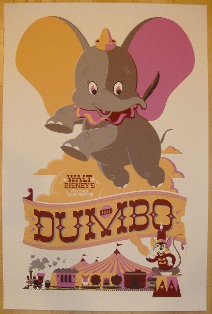 "2011 ""Dumbo"" - Silkscreen Movie Poster by Tom Whalen"