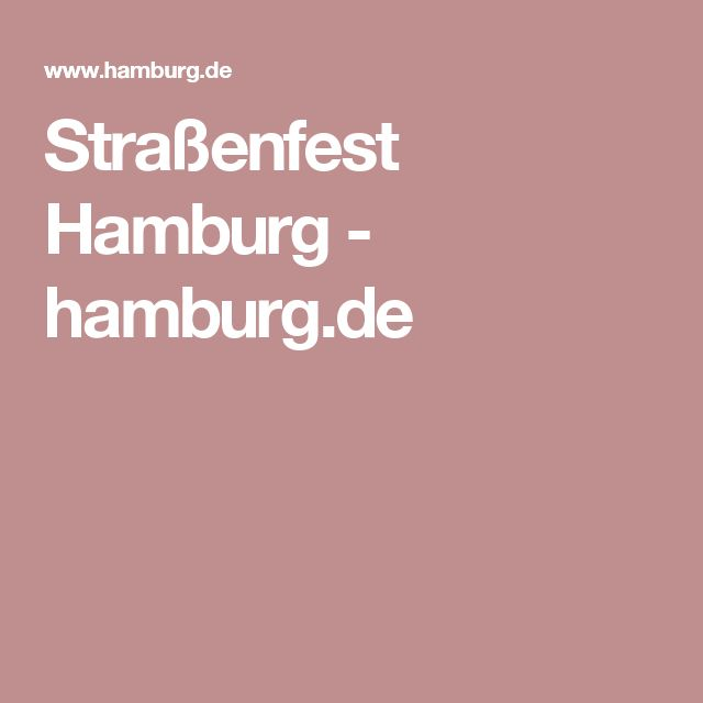 Straßenfest Hamburg - hamburg.de