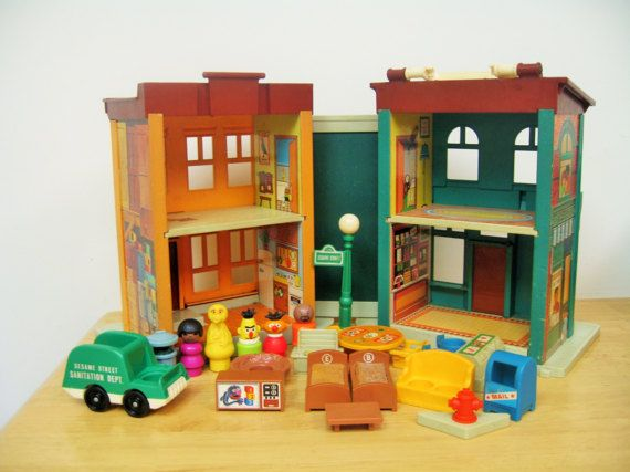 Vintage Fisher Price Sesame Street Townhouse by toysofthepast