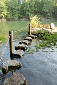 Stepping Stones to lovely retreat.