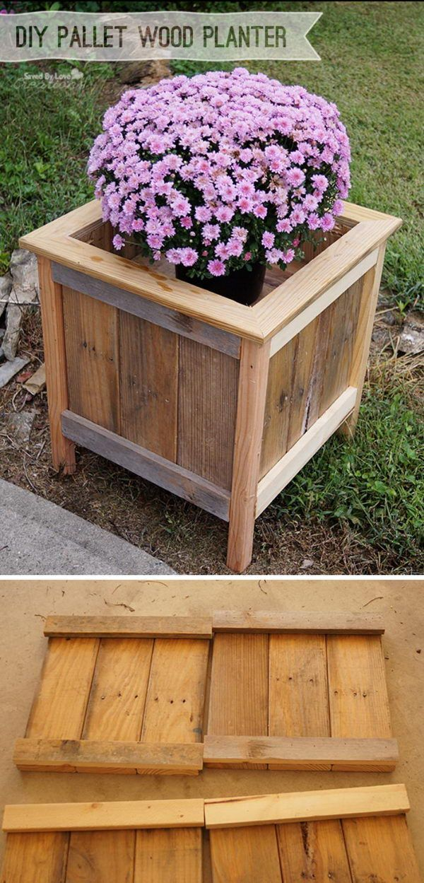 17 best ideas about pallet planters on pinterest pallet for How to make plant pots from pallets